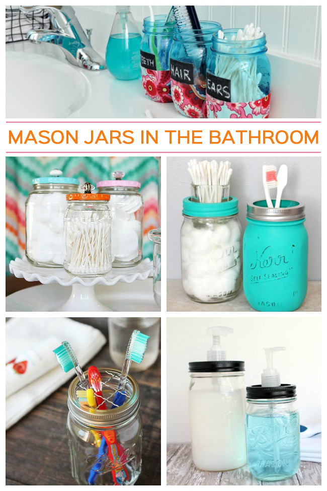 Bathroom Storage Jar Ideas : Mason jar ideas for the bathroom crafts