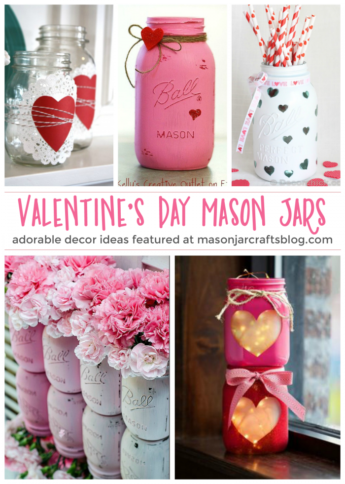 valentine's day mason jars - mason jar crafts, Ideas