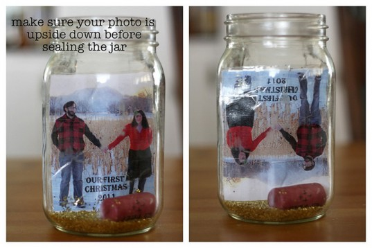 Homemade Mason Jar Snow Globes