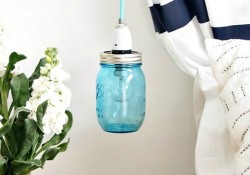 Make a Pretty Mason Jar Pendant Light