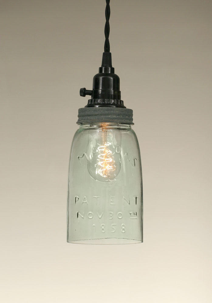 Mason Jar Open Bottom Pendant Light