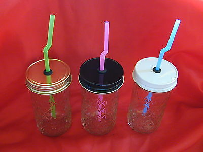 Mason Jar Sippy Cups with Straw