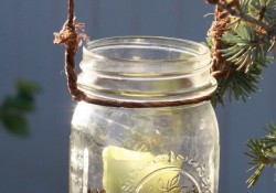 DIY Hanging Mason Jar Candles