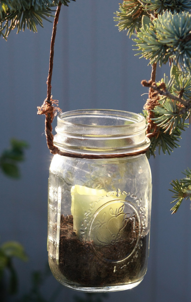 Diy hanging mason jar candles mason jar crafts for Hanging candles diy