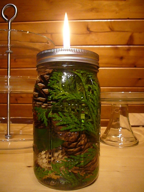 Mason Jar Oil Candle