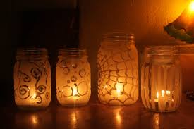 Frosted Mason Jar Candle Holders