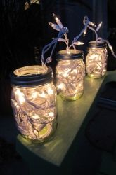 Solar Fairy Lights in Mason Jars