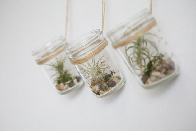 DIY Hanging Mason Jar Planter