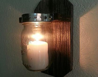 DIY Mason Jar Candle Sconce