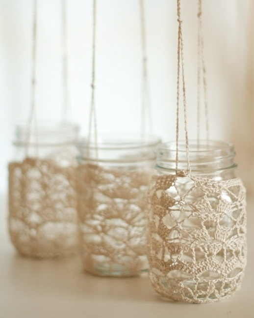 How to Crochet Mason Jar Hangers