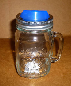 Mason Jar Drinking Glass with Handles