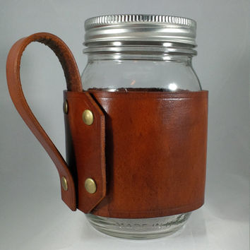 Mason Jar Glasses with Handles