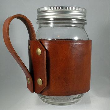 Mason Jar Glasses with Handles
