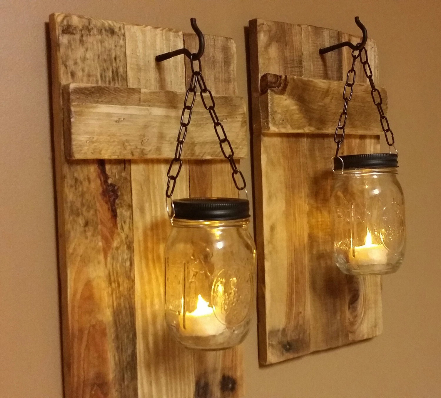 Diy Wall Decor Lights : Diy mason jar sconce making tutorial crafts