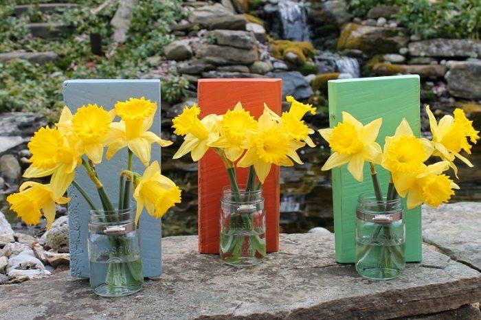 Mason Jar Sconce Vase