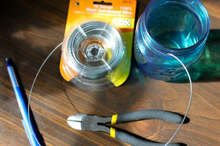 Mason Jar Wire Hanging DIY