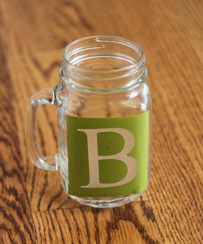 Personalized Mason Jar Glasses with Handles