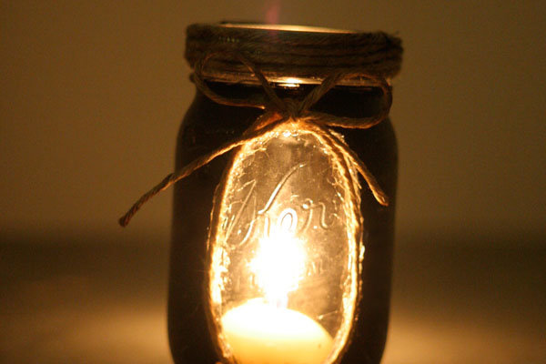 Chalkboard Mason Jar Candle Holder