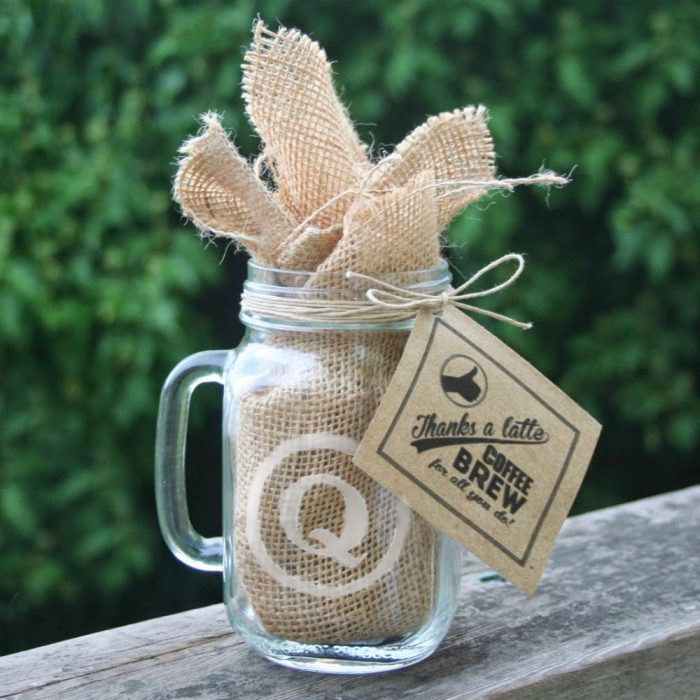 Engraved Mason Jar Mug