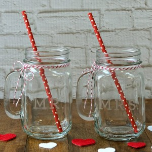 Engraved Mason Jars Wedding Favors