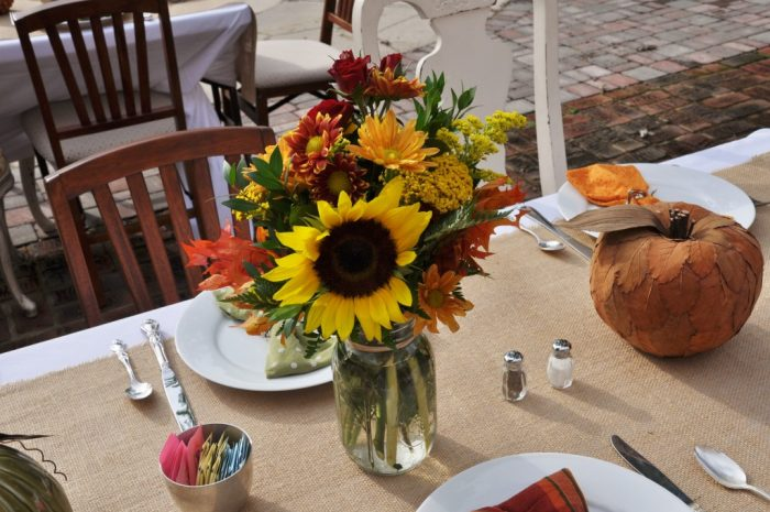 Fall Mason Jar Flower Arrangements