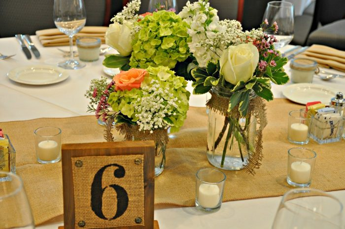 Mason Jar Flower Arrangements Weddings