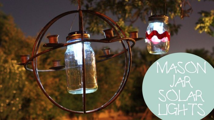 Mason Jar Lights Outside
