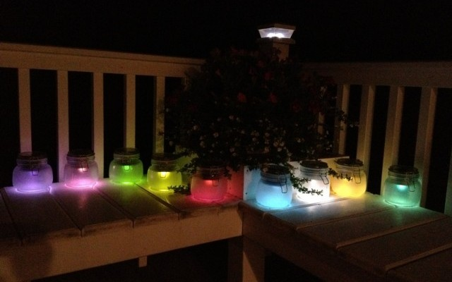 Painted Mason Jar Solar Lights