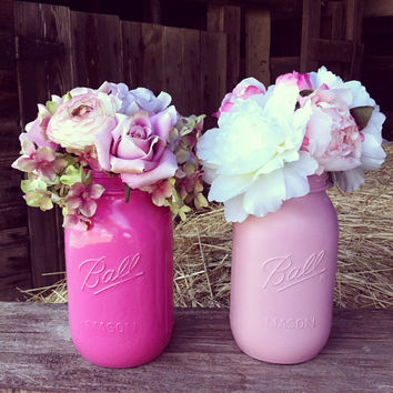 Bridal Shower Centerpiece with Mason Jars