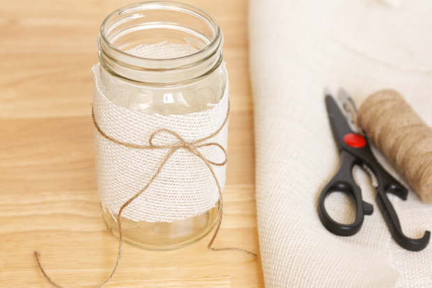 Burlap Mason Jar Picture 3