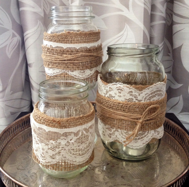 How to Make Burlap Mason Jars - Mason Jar Crafts