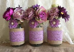 Homemade Mason Jar Centerpieces For Bridal Shower