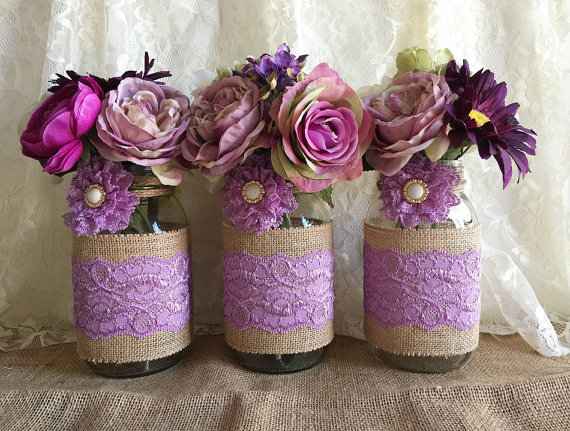 Mason Jar Bridal Shower Centerpiece