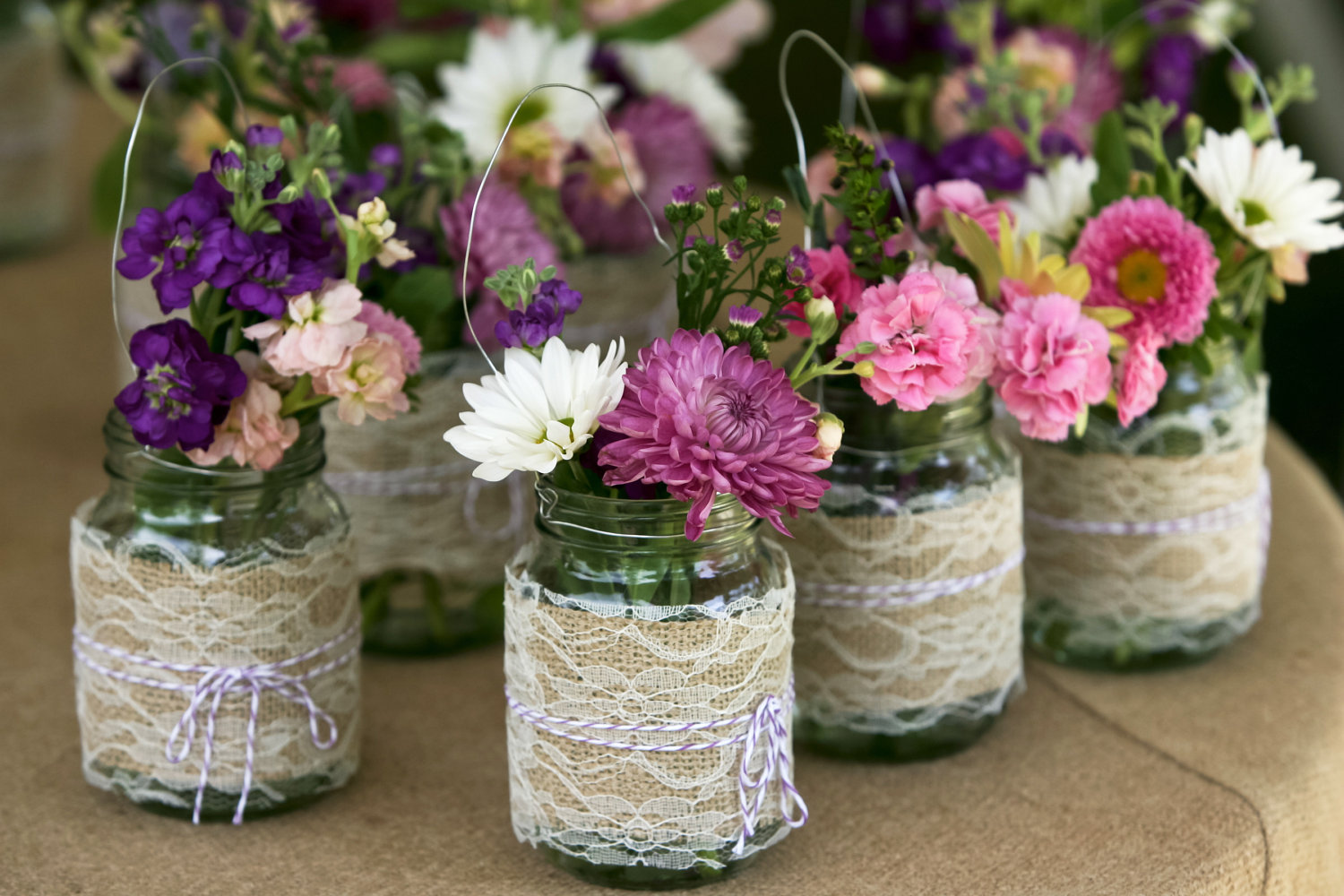 Homemade Mason Jar Centerpieces For Bridal Shower - Mason Jar Crafts