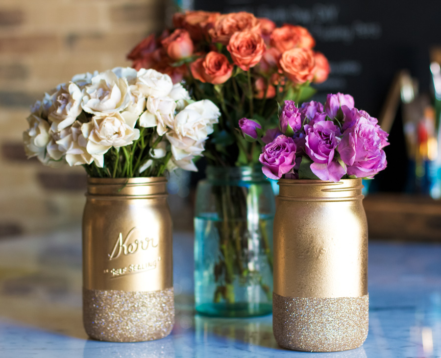 Homemade Mason Jar Centerpieces For Bridal Shower Mason Jar Crafts