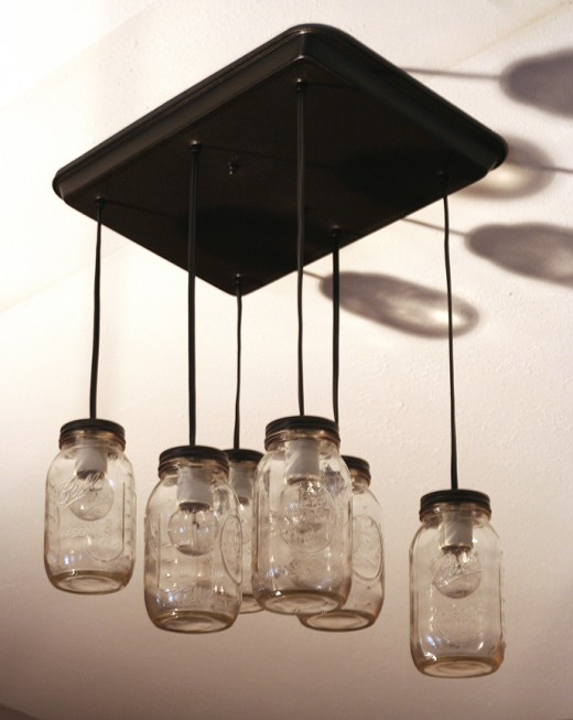 Mason Jar Kitchen Light Fixture