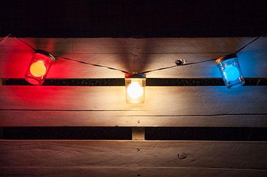 Mason Jar Patio String Lights