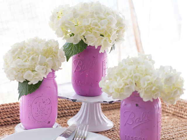 Painted Mason Jar Centerpiece Picture 5