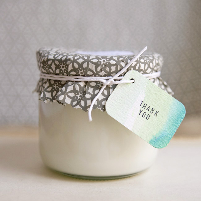 Mason Jar Candle Bridal Shower Favor