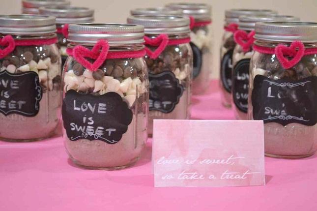Bridal Shower Mason Jar Cookie Mix Favors